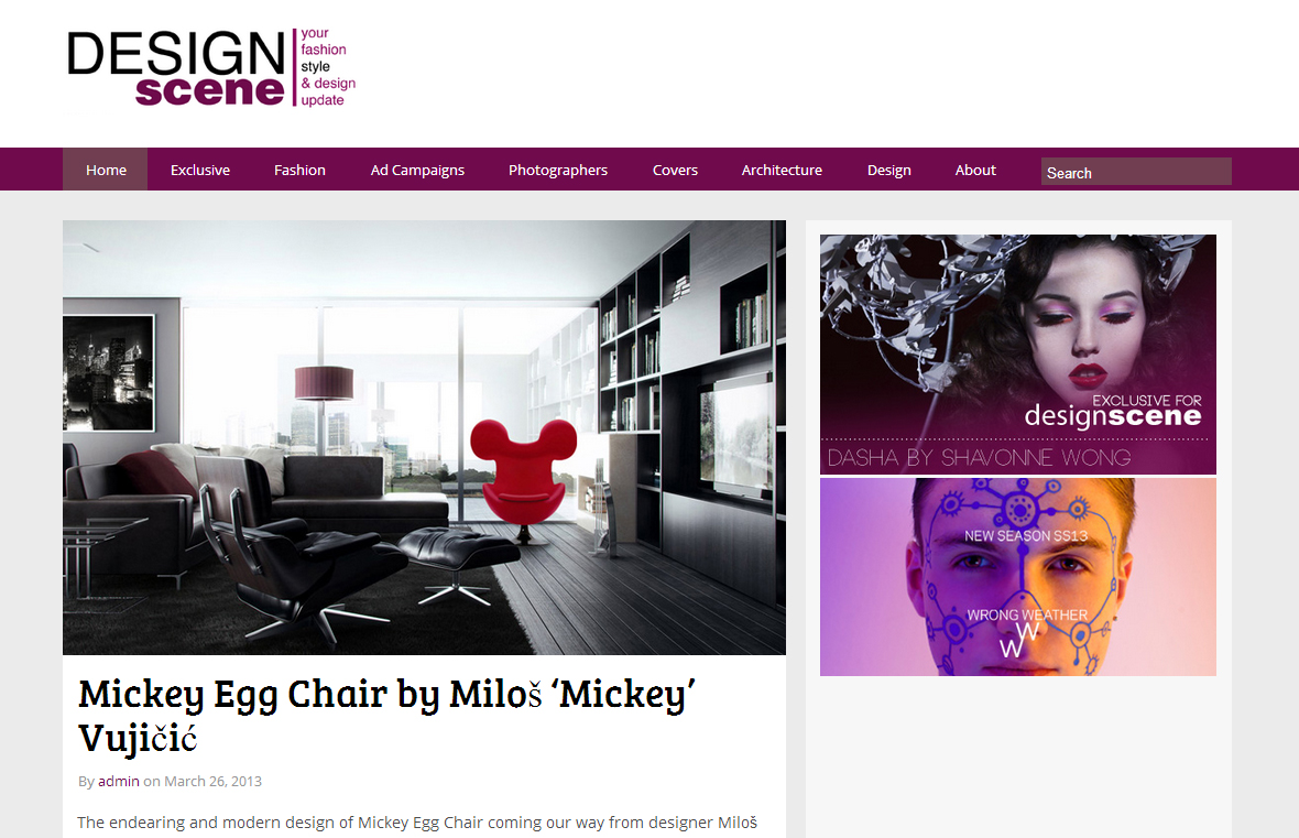 Design Scene - mickey Egg Chair