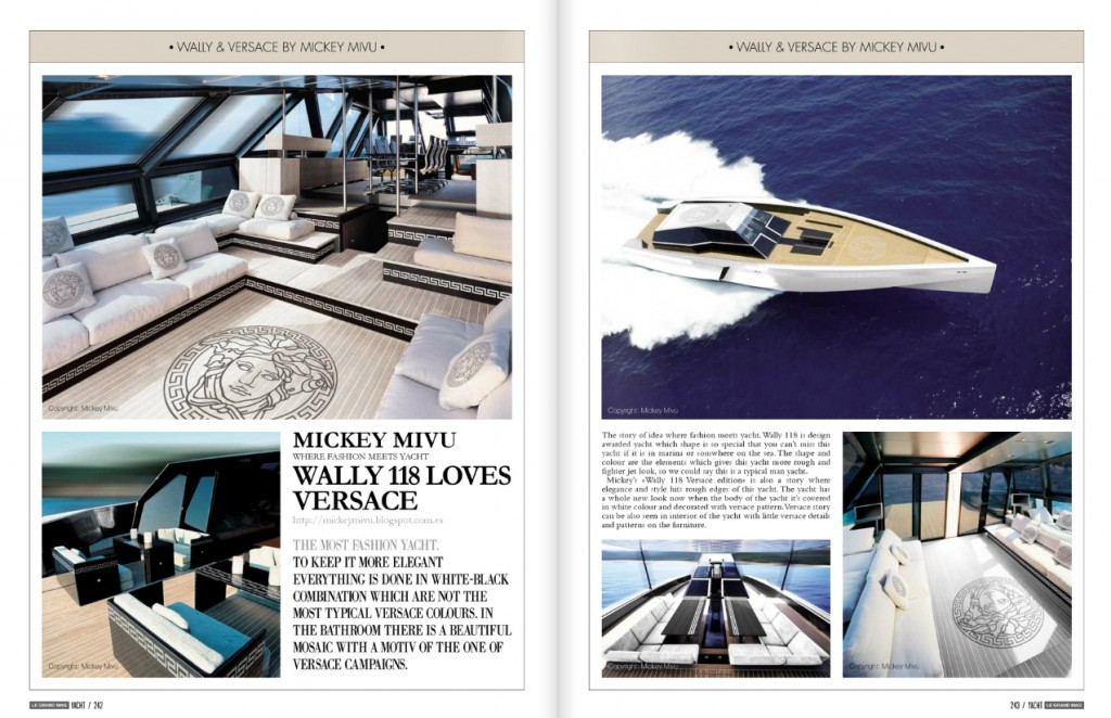 Wally 118 Versace in Le Grand Mag