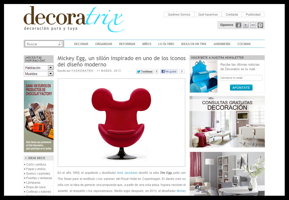 decoraTrix - mickey Egg chair